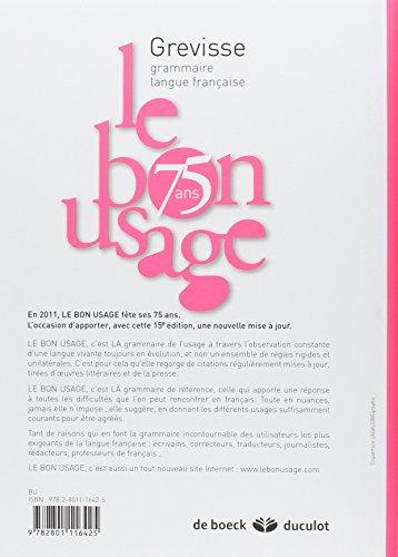BON LE GREVISSE USAGE DE GRATUITEMENT GRATUIT TÉLÉCHARGER