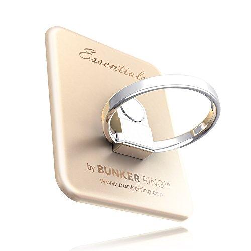 BUNKER RING EssentialsMatt 6 Color バンカーリング iPhone/iPad/iPod/Galaxy/Xperia/スマートフォン・タブレットPCを指1本で保持・落下防止・スタンド機能ゴールド