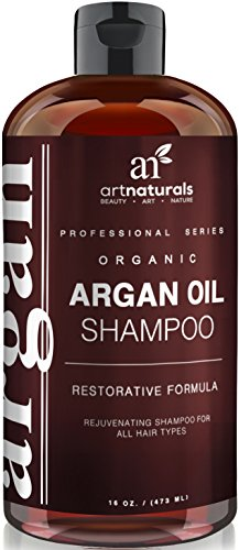 Art Naturals Organic Daily Argan Oil Shampoo 16 oz, Best Moisturizing, Volumizing Sulfate Free Shampoo for Women, Men & Teens – Used for Dry, Damaged, Colored For All Hair Types – Anti Aging Hair Care