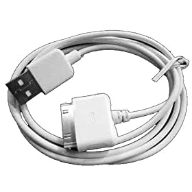 6 Foot Long USB Data Sync Cable For iPod, iPhone 2G 3G 3GS, iPhone 4, iPod Touch 2nd 3rd 4th Generation iPod Nano 4th 5th 6th Gen All iPhone, iPod Models Compatible (White Color)