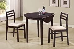 Coaster 3 Piece Dining Set Cappuccino