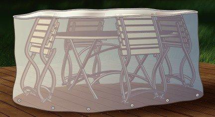 Abdeckung Gartenmöbel Schutzhülle für Sitzgruppe oval 230cm