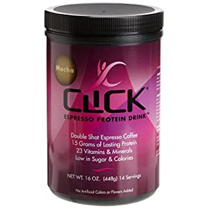 Click Espresso Protein Drink Powder 16 oz (448 g)