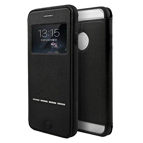 G-CASE iPhone6/6s 手帳型ケース スワイプ機能 スタンド機能付き スリムタイプブラック