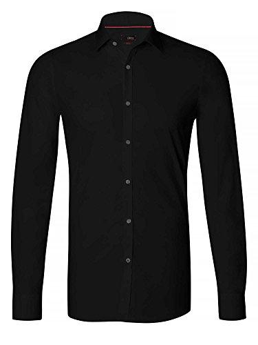 CINQUE Herren Businesshemd Slim Fit schwarz 39/M