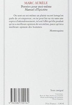 Livres Couvertures de Pensées pour moi-même, Suivi de Manuel d'Epictète