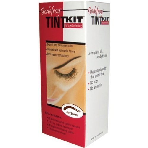 Godefroy Eyebrow Tint  Kit, Dark Brown