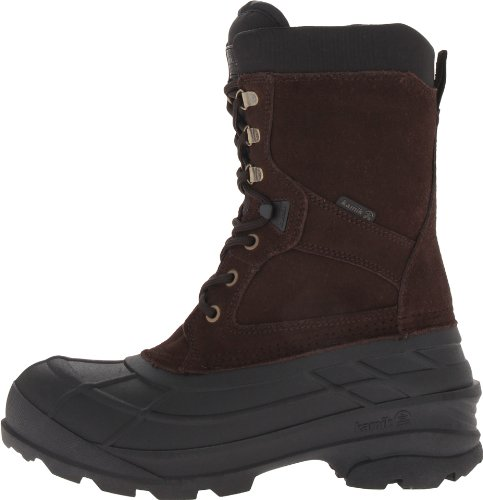 Kamik Men's Nation Wide Snow Boot,Dark Brown,11 M US