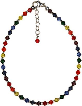 Anklet-Chakra-Colors-Crystal-Beads-with-Chain-Extension