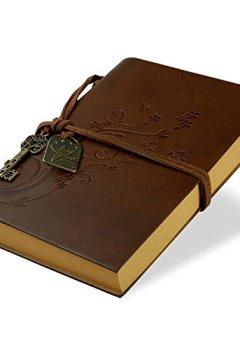 Livres Couvertures de Foonii New Vintage Magique Key String Notebook Journal Blank Agenda Jotter Cahier Corde une Fleur Vintage Intimate Diary(Café)