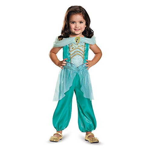 Disguise 82893M Jasmine Toddler Classic Costume, Medium (3T-4T)