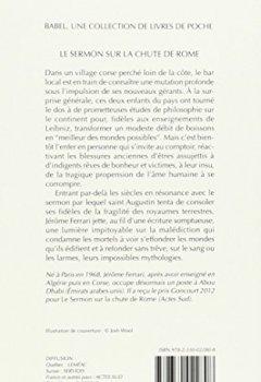 Livres Couvertures de Le Sermon sur la chute de Rome - Prix Goncourt 2012