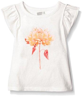 Crazy-8-Girls-Toddler-Girls-Flower-Graphic-Tee-Jet-Ivory-4-Years