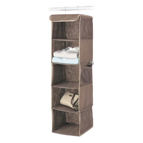 Whitmor 6351-1234-JAVA Fashion Color Organizer Collection Hanging Accessory Shelves, Java