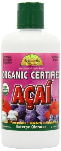 Dynamic Health Organic Certified Acai Juice Blend, 33.8-Ounce Bottle