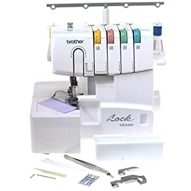 Brother 1034D 3/4 Lay-In Thread Serger