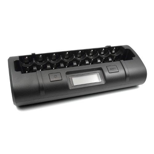 MH-C808M - Ultimatives Ladegerät für AA/AAA/C/D / Mikroprozessorgesteuertes Schnell-Ladegerät für für 1-8 NiMH-/NiCd-Akkus des Typs Mignon / Micro / Baby / Mono.