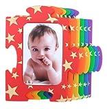 パズルフォトフレーム レインボー スター8130【写真立て カラフル 星 ベビー 赤ちゃん マグネット 出産祝い 子ども】