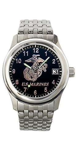 U.S. Marine Corps Stainless Steel Mens Watch - 30m Water Resistant