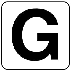 【845-81G】アルファベットステッカーG(中)5枚入