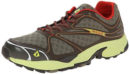 Vasque Men's Pendulum II Trail Running Shoe, Black Olive/Green Glow, 10 M US