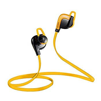 DACOM G02 Bluetooth ワイヤレスイヤホン Bluetoothヘッドセット スポーツ型 Bluetooth 4.1+ EDR ワイヤレスヘッドセット 汗や水に強い 軽量 マイク内蔵 音楽再生 通話 iPhone6/6Plus/5/5s/iPad/Tablets/smartphone 対応 NFC機能付き オレンジ