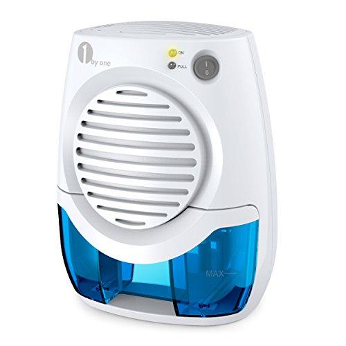 1byone Deumidificatore Termo Elettrico Spegnimento Automatico,Mini Assorbitore di Umidità da 400ml,170ml in 24 ore per auto, casa, cucina, camera da letto, bagno, armadio, ecc, Bianco