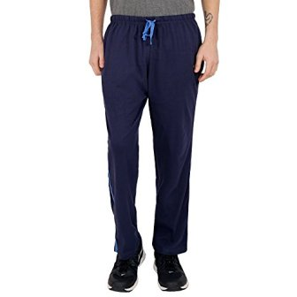 The Cotton Company Men's Cotton Track Pants - Navy Blue (Trop_Tracks_Navy_BlueTwillTape_XXL)