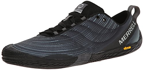 Merrell Men's Vapor Glove 2 Trail Running Shoe, Black/Castle Rock, 10.5 M US