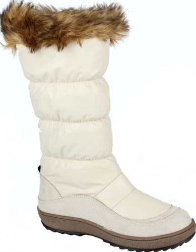 Kimbertex After Ski Winterstiefel Winterboot für Damen Fashion Style beige Groesse-38