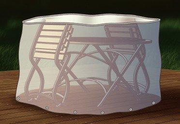 Abdeckung Gartenmöbel Schutzhülle für Sitzgruppe oval 180cm