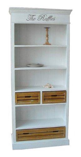 641: serie p - Bücherregal - 198 x 86 x 35cm - Echtholz weiß