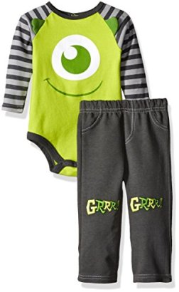 Disney-Baby-Boys-2-Piece-Mike-from-Monsters-Inc-Pant-Set-with-3d-Knee-Patches-Green-18-Months