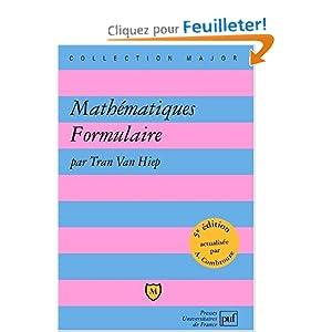 Livre - Mathématiques formulaire - Niveau L1 / L2