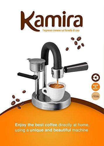 Kamira, l'espresso cremoso sul fornello di casa.