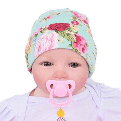 SunwardTM-Newborn-Baby-Hospital-Hat-With-Flower-Bowknot-1515cm-Green