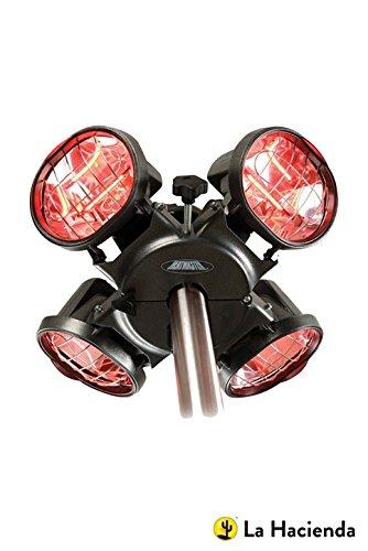 41JiUQRuG L - BEST BUY #1 Heatmaster U3R20 2.0KW Popular Umbrella Mount Infrared Heater