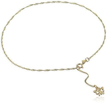 14k-Yellow-Gold-Anklet-with-Sparkling-Butterfly-Charm-91-Extender