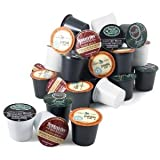 Keurig Coffee Connoisseur's Variety Pack 96 K-Cups includes Green Mountain Nantucket, Tully's French Roast, Newmans Own Special Blend, and Caribou Coffee Blend