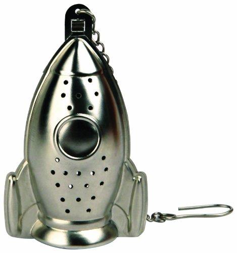 Kikkerland Rocket Tea Infuser and Drip Tray