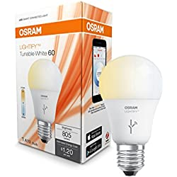 SYLVANIA LIGHTIFY by Osram - Smart Home LED Light Bulb - Warm White to Daylight | 60W Tunable White 2700K - 6500K, 73850 A19 E26 For Connected Home - Works with Alexa (with hub sold separately)