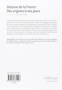 Livres Couvertures de Histoire de France des origines à nos jours