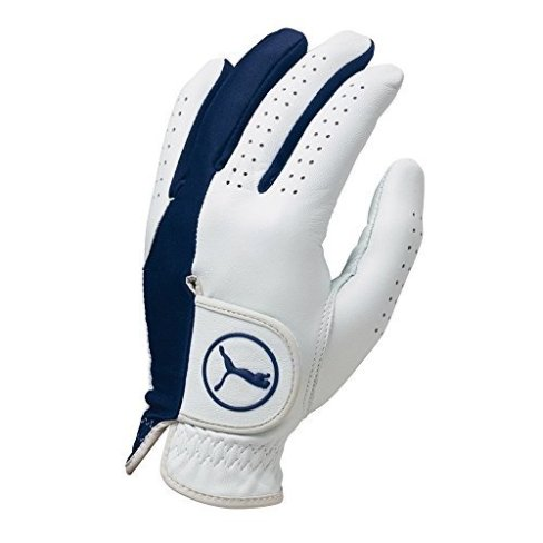 Puma Golf Mens Left Hand Regular Fit Pro Formation Hybrid Glove (White-Monaco Blue, X-Large)