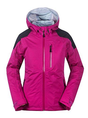 aparso Damen Regenjacke 3-Lagen Outdoorjacke Funktionsjacke Hardshell Jacke wasserdicht atmungsaktiv