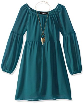 Amy-Byer-Girls-Big-Girls-Solid-Chiffon-Long-Sleeve-Peasant-Dress-Peacock-10