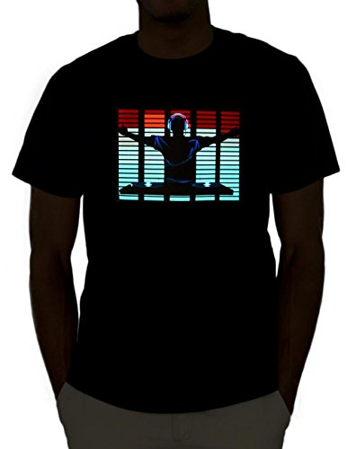 DJ Sound Activated Light Up Rave Shirt