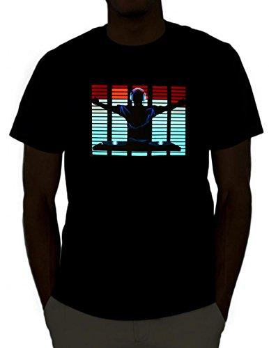 Emazing Lights DJ Sound Activated Light Up Rave Shirt