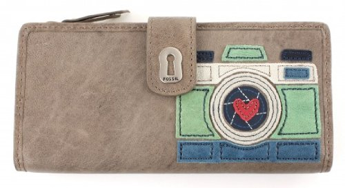 Fossil Ruby Tab Clutch - Ash Gray