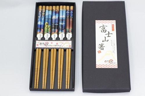 日本のお土産 箸5膳セット 富士山 【Chopsticks 5Sets/Mt.Fuji】