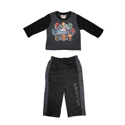 2PcsBoys-Marvel-Heroes-Fleece-Pullover-Sweatshirt-Jacket-Pants-3T-Grey